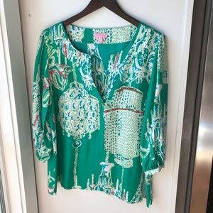 Lilly Pulitzer Swingers Blouse